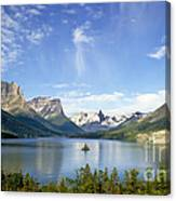 St. Mary Lake And Wild Goose Island Canvas Print