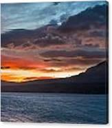 St. Mary Lake Dawn 1 Canvas Print