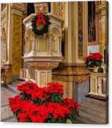 St. Mary Of The Angels Christmas Lectern Canvas Print