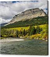St. Mary River And East Flattop Mountain Canvas Print