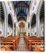 St Mary's Catholic Church - The Nave Canvas Print