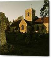 St Marys Church And Ancient Memorial Canvas Print