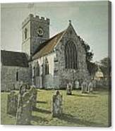St Marys Church Dinton And Churchyard Canvas Print