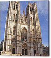 St Michael And St Gudula Cathedral Canvas Print
