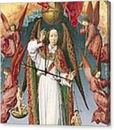 St. Michael Weighing The Souls, From The Last Judgement, C.1445-50 Oil On Panel Detail Of 170072 Canvas Print