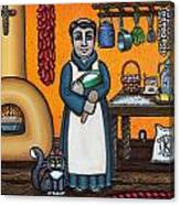 St. Pascual Making Bread Canvas Print