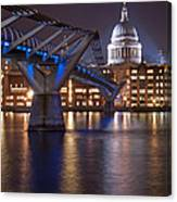 St Pauls And Millennium Bridge Canvas Print