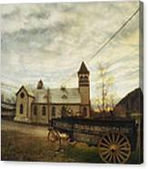 St. Pauls Anglican Church With Wagon  Canvas Print