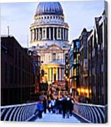 St. Paul's Cathedral London At Dusk Canvas Print