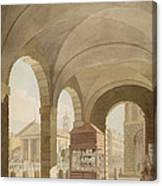 St. Pauls, Covent Garden C.1765-75 Graphite And Wc On Paper Canvas Print
