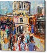 St Paul's From The Millennium Bridge Canvas Print
