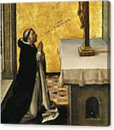 St. Peter Martyr In Prayer Canvas Print