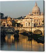 St Peter Morning Glow - Impressions Of Rome Canvas Print