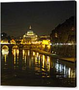 St Peters At Night Canvas Print