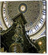 St. Peter's Basilica Dome Canvas Print