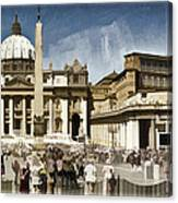 St Peters Square - Vatican Canvas Print
