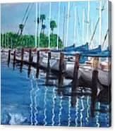 St. Petersburg Marina Canvas Print