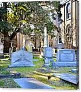 St. Philips Church Cemetery Charleston Sc Canvas Print