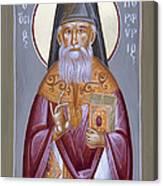 St Porphyrios The Kavsokalyvitis Canvas Print