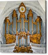 St Roch Organ In Paris Canvas Print
