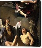 St. Sebastian Succoured By Two Angels Canvas Print