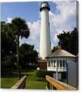 St. Simon's Island Georgia Lighthouse Painted Canvas Print