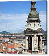 St Stephen's Basilica Bell Tower In Budapest Canvas Print