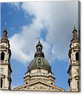 St. Stephen's Basilica Dome And Bell Towers Canvas Print