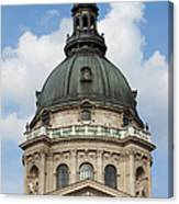St. Stephen's Basilica Dome In Budapest Canvas Print