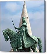 St Stephen's Statue In Budapest Canvas Print