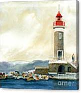 St. Tropez Lighthouse France Canvas Print