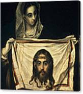 St Veronica With The Holy Shroud Canvas Print