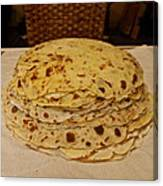 Stack Of Lefse Rounds Canvas Print