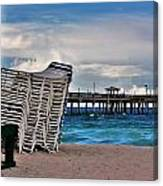 Stacked Beach Chairs Canvas Print