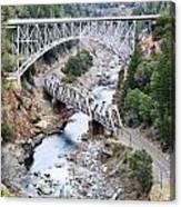 Stacked Bridges Canvas Print