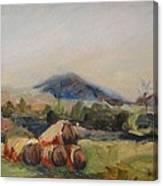 Stacked Hay Bales Canvas Print