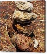 Stacked Rocks In Aruba Canvas Print