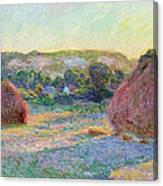 Stacks Of Wheat. End Of Summer Canvas Print