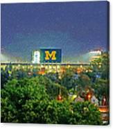 Stadium At Night Canvas Print