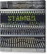 Stadium Bench Canvas Print