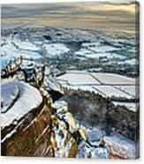 Staffordshire Winter Moorland Canvas Print