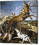 Stag Hunt Canvas Print