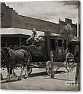 Stage Coming Through Tombstone Canvas Print