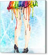 Stage Legs Canvas Print