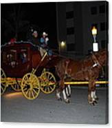 Stagecoach And Horses Canvas Print
