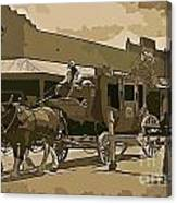 Stagecoach In Old West Arizona Canvas Print