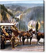 Stagecoach Near Upper Falls Canvas Print