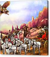 Stagecoach Robbery Canvas Print
