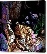Stain Glass Motif Canvas Print