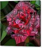 Stain Glass Rose Canvas Print